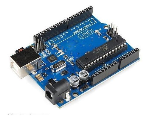 Arduino Uno R3 Avr 32 K Flash Con Zocalo Cable Usb