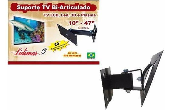 Suporte Tv Lcd/plasma Bi-articulado De 10 A 47 Polegadas