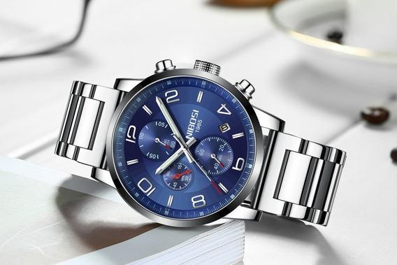 Relógio ´- Nibosi - 43mm - Multifuncional - Hardlex