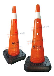 Cono Vial Naranja Reglamentario 70 - 75cm Base Rigida Pesada