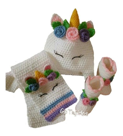 Bufanda Y Gorro Tejido A Crochet Varios Personajes