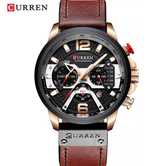 Relógio Masculino Curren 8329 Original Pulseira Couro Nf-e