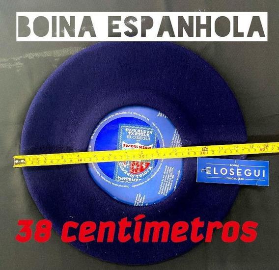 Boina Espanhola Elosegui 38 Cm De Lã Sem Carneira
