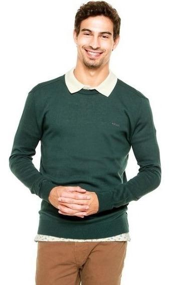 Blusa Tricô Suéter Verde Masculino Colcci 00088