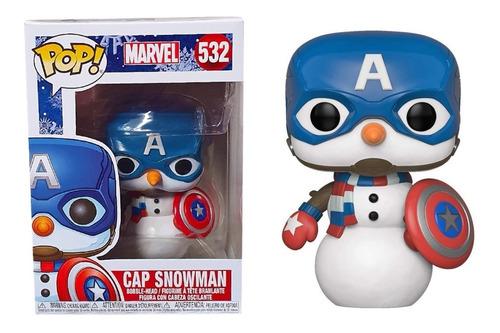 Funko Pop Capitan America Holiday 532 Marvel Nuevo Original