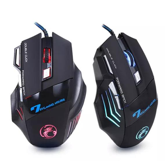 Mouse Gamer Led X7 3200 Dpi 7 Botões Fio Usb Frete Gratis