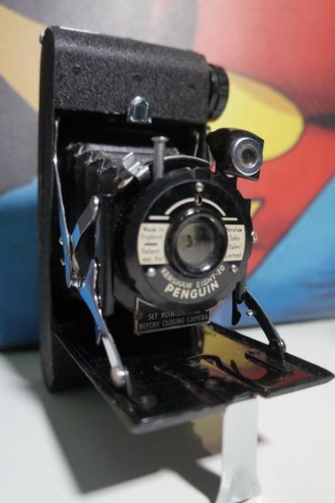 Câmera Fotográfica Antiga Impecável De Fole Penguin Ano 1951