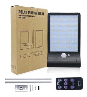 Lampara Solar 48 Led Con Sensores De Movimiento Color Blanco