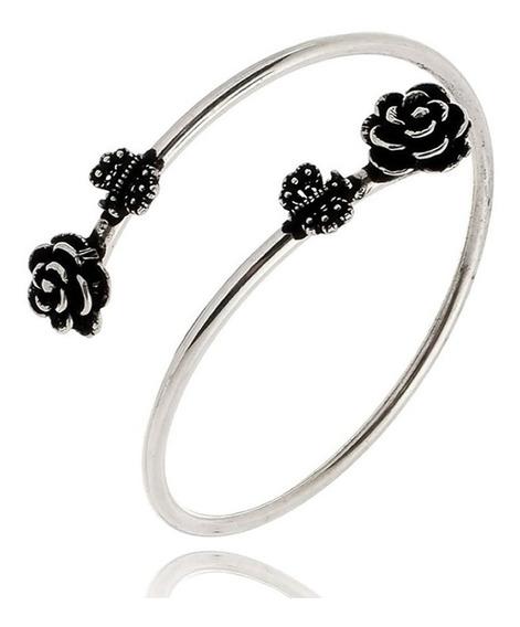 Bracelete Pulseira Flor Borboleta Presente Chique Joia C171