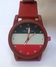 Relógio Tommy Hilfiger Estilo 1791322 Azul E Vermelho Leia