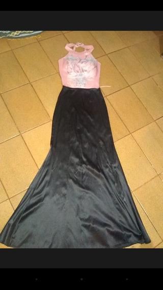 Vestido De Fiesta. Top Y Pollera Corte Sirena