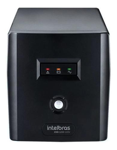 Imagem 1 de 3 de No break Intelbras XNB 1200 1200VA entrada e saída de 120V preto