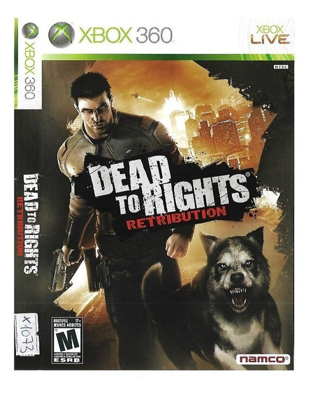 Jogo Dead To Rights Retribution Xbox 360 Novo Lacrado