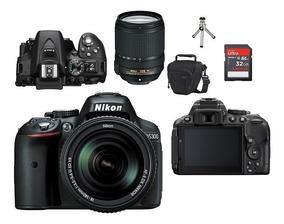 Nikon D5300 Lente 18-140mm Vr + Bolsa+tripé+32gb Classe 10 !