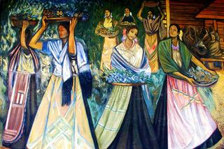 Lienzo Tela Canvas Mural Michoacán Alfredo Zalce 1962 120x80