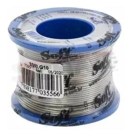 Rolo Carretel Solda 200 Gramas Tri Fluxo 60 X 40 X 1mm Soft