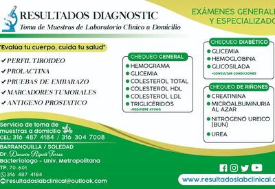 Examenes De Laboratorio Clinico.toma De Muestra A Domicilio