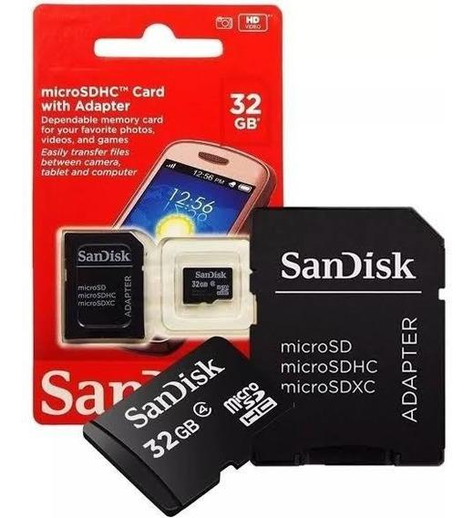Cartão Micro Sd Sandisk 32gb Memória Micro Sd Sdhc Com Adapt