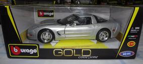 Chevrolet Corvette Miniatura Bburago Gold 1:18 Metal Maisto