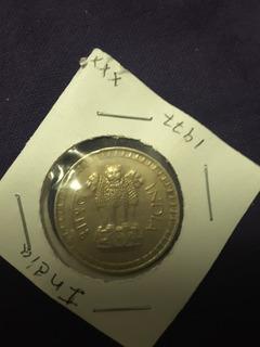Moneda De 1 Rupia De La India De 1977