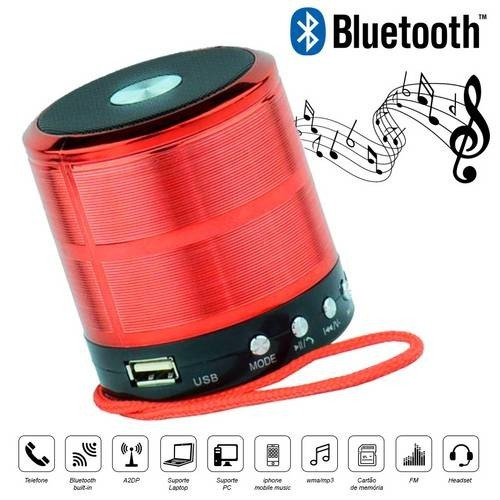Caixa De Som 5w Bluetooth,fm, Mp3,usb Wireless