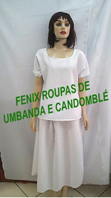 Conj Feminino Raçao/ Oxford/candomblé/umbanda/roupas Simples