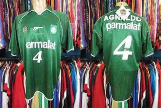 Palmeiras 2000 Camisa Titular Tamanho Gg Número 4 Agnaldo.