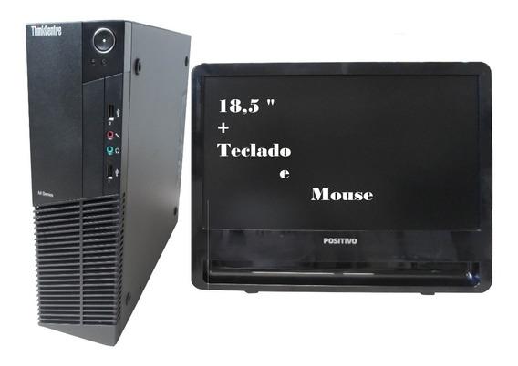 Computador Lenovo M81- I3 4gb 120gb Ssd Mon 18,5 - Semi Novo