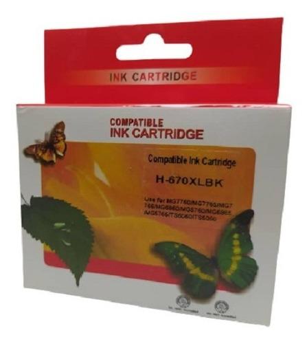 Cartucho Tinta Hp 670 Xl  Black Cyan Magenta Yellow Stamprit