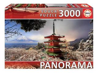 Rompecabezas 3000 Pz Monte Fuji Y Pagoda Japón Educa
