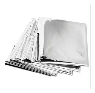 10x Cobertor De Emergência Ao Ar Livre Refletor Sobrevivên