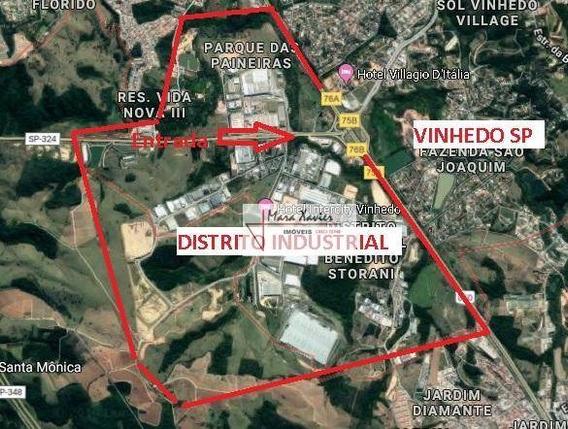 Área À Venda, 24000 M² Por R$ 12.000.000 - Distrito Industrial - Vinhedo/sp - Ar0041