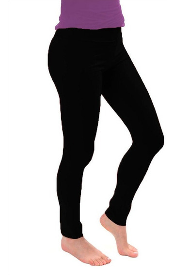 Calza Chupin Tiro Alto 100% Lycra Mujer Talle Standar Xs-xxl