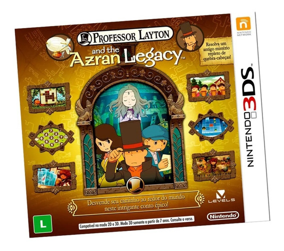 Professor Layton And The Azran Legacy 3ds Promo