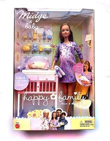 Boneca Barbie Grávida Midge & Baby Happy Family Sem Juros
