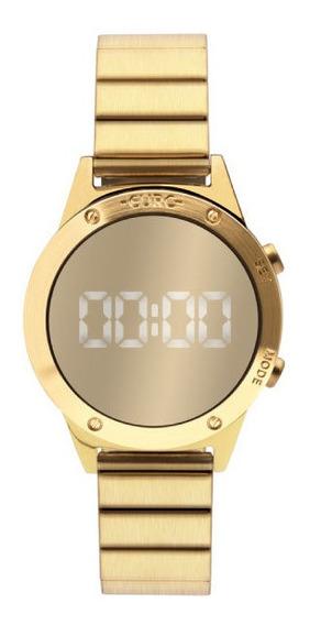 Relógio Euro Dourado Espelhado Digital Feminino Eujhs31bab4d