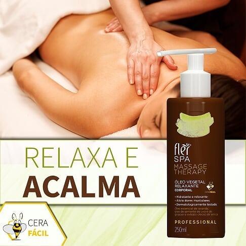 Óleo Vegetal Relaxante Corporal Spa Massage 250ml Flér - 6un