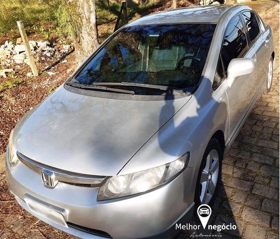 Honda Civic Lxs 1.8 Flex Aut. 2008 Prata