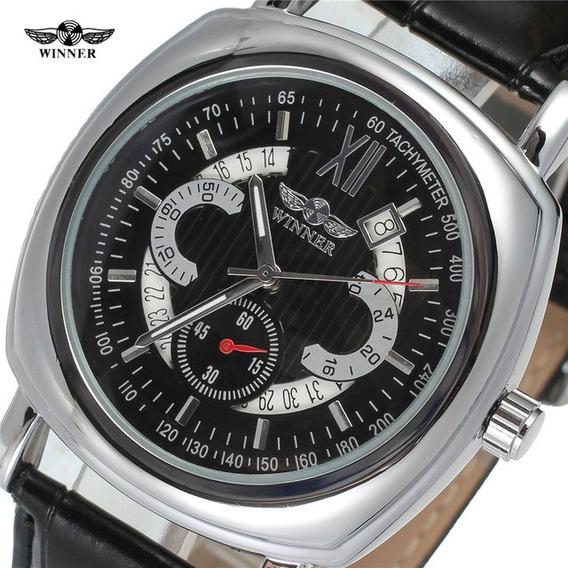 Relógio Automático Winner Caixa Quadrada