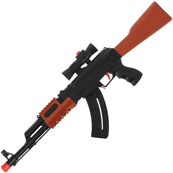 Metralhadora Ak-47 Nerf Lança Dardos & Bolinhas De Gel
