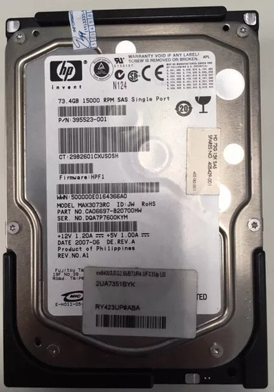 Hd Hp 73.4 Gb 15k 3,5 Sas 395523-001 405429-001