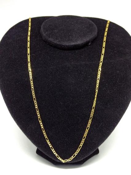 Corrente Masculina Folheada Ouro 18k Dourada 3x1 Linda C628
