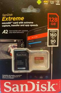 Cartão De Memória 128gb Sandisk Extreme Novo Micro Sd