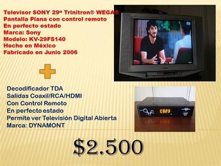 Televisor Sony Trinitron® Wega® 29 + Decodificacor Tda