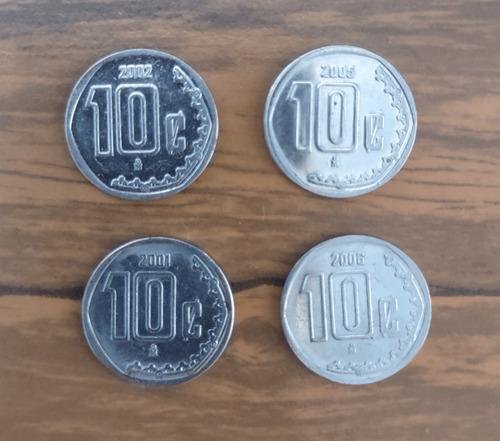 Imagen 1 de 1 de 4 Pzas Monedas De 10 Centavos
