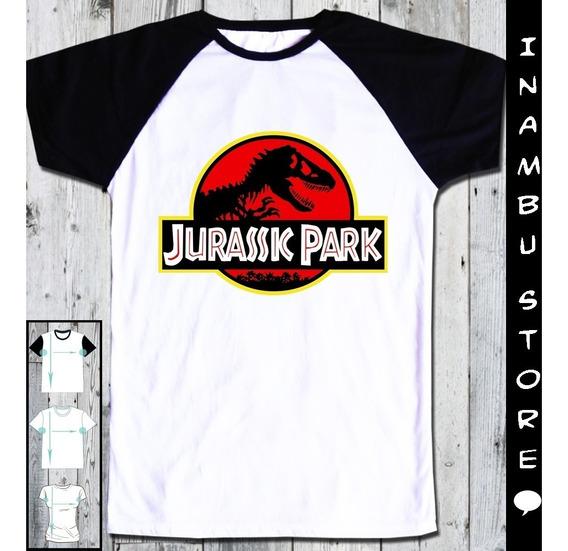 Remera Jurassic Park Manga Ranglan + Modelos Capital Lanús