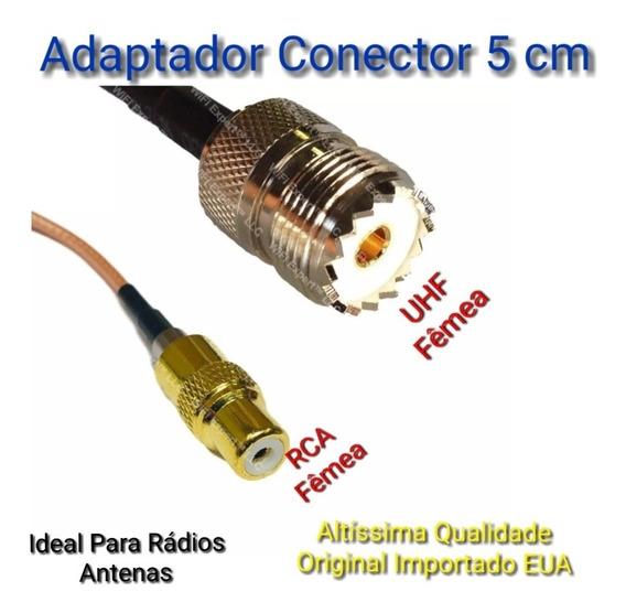 Rádios Cabo Adaptador Conector Uhf Fêmea / Rca Fêmea 5 Cm