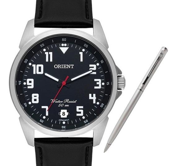 Relógio Orient Masculino Mbsc1031 P2px + Brinde Caneta Crown