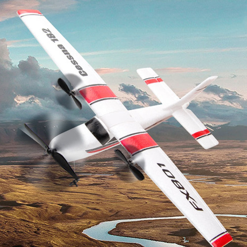Fx801 Avión Cessna 182 2.4ghz 2ch Rc Avión Avión