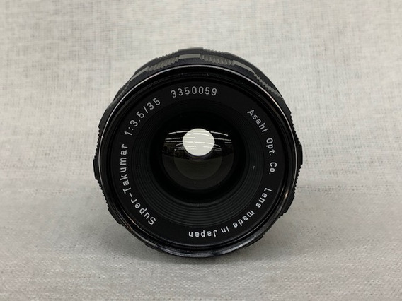 Lente Asahi Opt. Super Takumar 35mm 3.5 (rosca) M42.